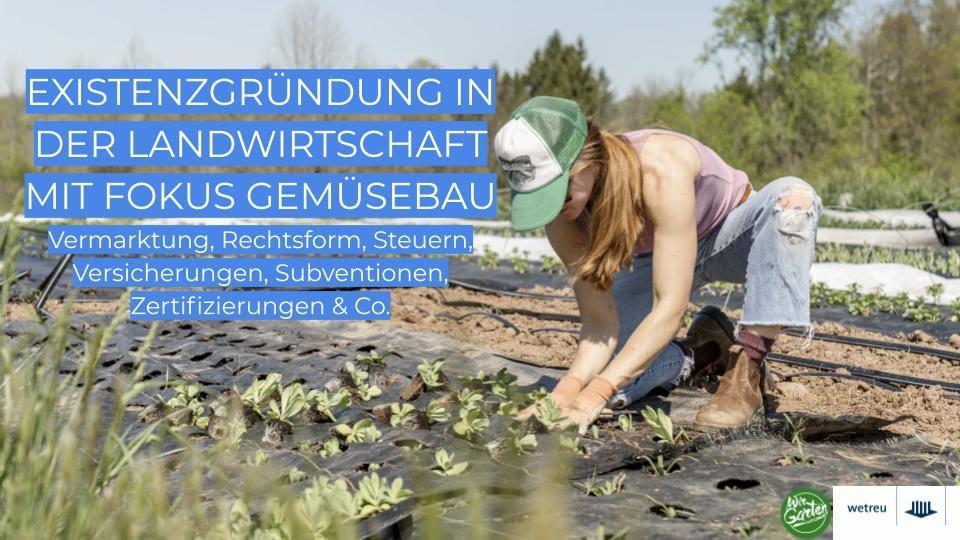 WirGarten-wetreu-Online-Seminar Existenzgründung in der Landwirtschaft mit Fokus Gemüsebau